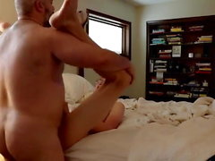 Daddy bear fucks his boyslut