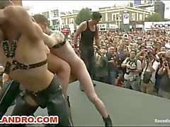 Outdoor Gay Public and Fetish Gangbang