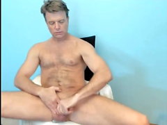 dad shows off his thick cock