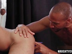 Big dick gay anal sex and eating cum