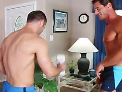 Alex Cox & Tristan Jaxx fuck and suck each other big cocks