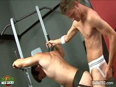 Chad Davis and Cody Springs fuck in the gym