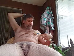 5 19 18 Danrun oozes cum on his hairy belly..yummy close up
