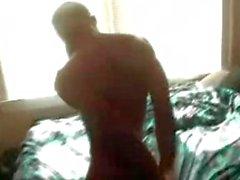 skinny black dude tied up