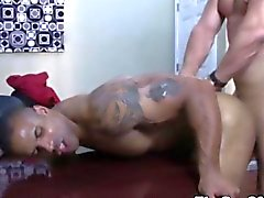 Ebony office stud pounded in his ass