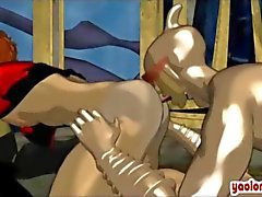 Threesome hentai gays suck and lick each other
