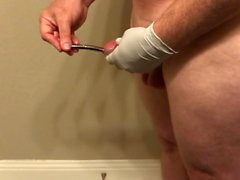 My husband stretches his urethra