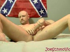 Bald dude Tony masturbates and gets his big cock sucked well