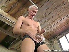 Hung old man bdsm masturbation