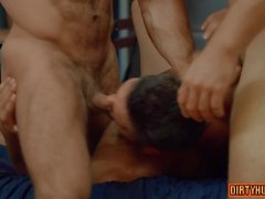 muscle gay threesome with cumshot film