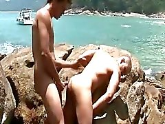 Latino Outdoor Bareback Orgy