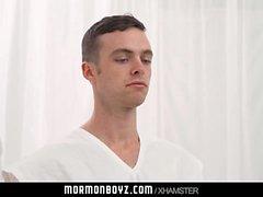 Mormonboyz - Clean-cut Mormon boy barebacked in church