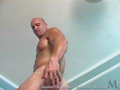 Edson naked, pose, shower worship