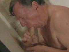 Grandpa loves big gloryhole cock