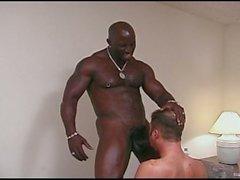 Monster Black Cock Fucks a White Gay Ass