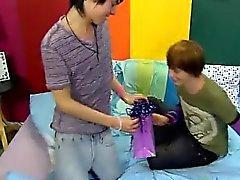 Emo gay boy tube twink boy Kyler Moss surprises Miles Pride