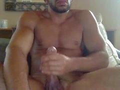 Hung jock strokes for cam