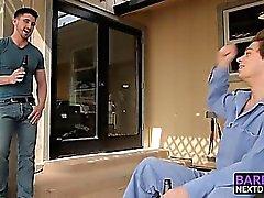 Smoking hot studs Derrick and Michael having outdoor sex
