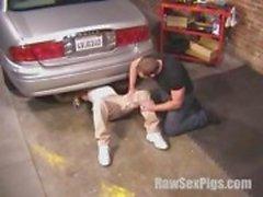 Hot Hunk Mechanic Gets Serviced