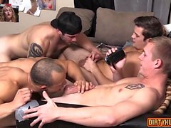 Muscle son anal sex and cumshot