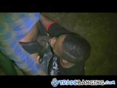 thug gives bj in park - 10 min