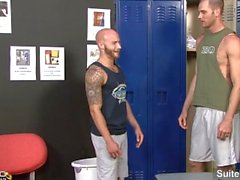Naughty tattooed married male Cole Streets suck and ride anally gay Drake