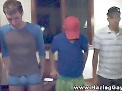 Straight college teens humiliated for their initiation