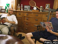 FamilyDick - Sweet older daddy pops virgin boys cherry