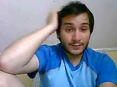 Straight guys feet on webcam #362