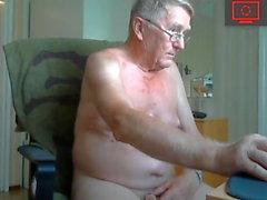 grandpa jerking off & ass show