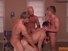 muscle gay foursome and facial feature