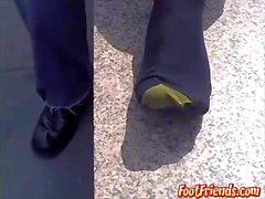 Public feet showing with gay dude Doug