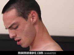 Horse hung missionary fucks his roommate bareback on camera