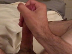 Stroking, some dirty talk, lots of cum