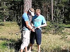 Bizarre young gay sex Roma and Artur Piss Play Outside