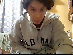 Straight guys feet on webcam #358
