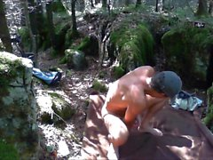 Pissing and wanking in the woods