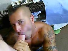 Top gay fucking tattooed bottom bitch