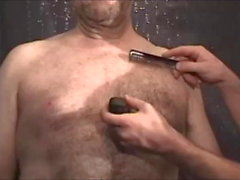 shaving nude bear