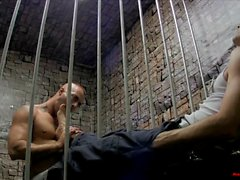 Prison Foot Worship and Foot Job LANCE HART JESSIE COLTER