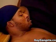 Hardcore anal penetration with threesome ghetto gays