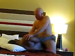 White Daddy breeds Black Chub ass