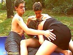 outdoor public bisex teens