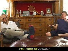 FamilyDick - Sweet older daddy pops virgin boys cherr