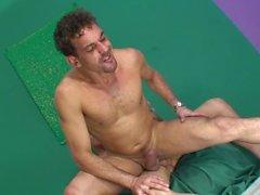 Athletic DILF seducing his college student neighbor