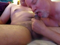The Need For Seed. Broad, Brown Uncut Cock Fills My Throat.