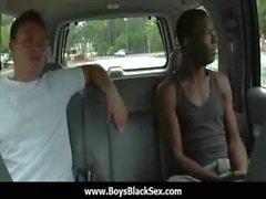 Black sexy gay boys bang white studs 18