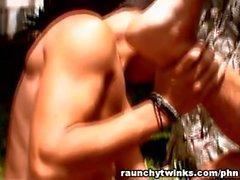 Sexy Latin Dudes Barebacking Gay Sex Outdoors