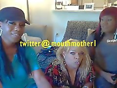 Ebony n Puerto Rican Tranny Girls Party at Mothermouth1