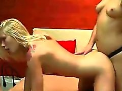 Two blonde bisexuals have fun fucking